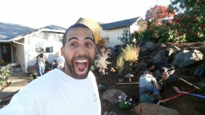 Celebrity Landscaper Ahmed Hassan often calls himself the big mouth landscaper